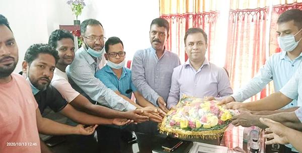 কমলনগরে নবাগত ইউএনও'র সাথে প্রেসক্লাব নেতৃবৃন্দের মতবিনিময়