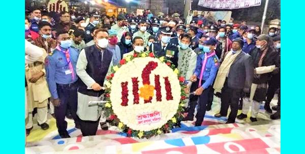 ফরিদপুরে যথাযথ মর্যাদায় আন্তর্জাতিক মাতৃভাষা দিবস উদযাপন