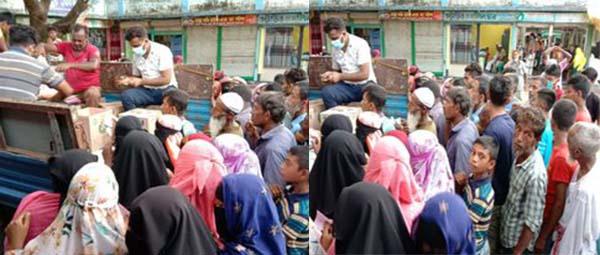নরসিংদীর নজরপুরে ব্যবসায়ী শফিকুল ইসলামের কর্তৃক এলাকাবাসীর কষ্ট লাঘবে নামমাত্র মূল্যে পণ্য সামগ্রী বিতরণ